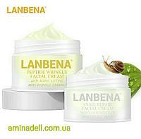 Восстанавливающий пептидный-улиточный крем + гиалуроновая кислота LANBENA Snail Repair Facial Cream от морщин