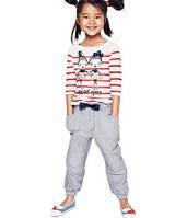 Стильные брючки Pullon бело-синие полосатые H&M, фото 1
