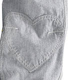 Стильные брючки Pullon бело-синие полосатые H&M, фото 3