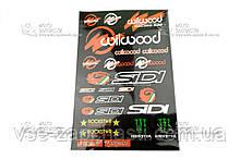 Наклейка спонсоры WILWOOD 30х45 см
