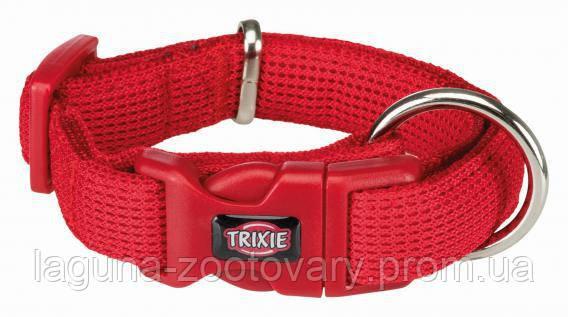 ТХ-16453 Ошейник Comfort Soft для собак дышащий, нейлон, S–M  30–45смм/25мм, красный