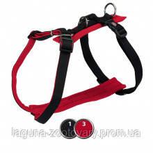ТХ-16711 Шлея Comfort Soft для собак дышащая, нейлон, M–L  52–75см/25мм, черный