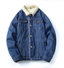Куртка чоловіча джинсовий на хутрі демисезон