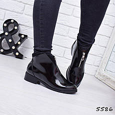 """Ботинки, ботильоны черные """"Castle"""" эко кожа, повседневная, демисезонная, осенняя, женская обувь, фото 2"""