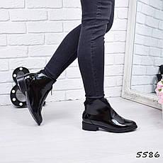 """Ботинки, ботильоны черные """"Castle"""" эко кожа, повседневная, демисезонная, осенняя, женская обувь, фото 3"""