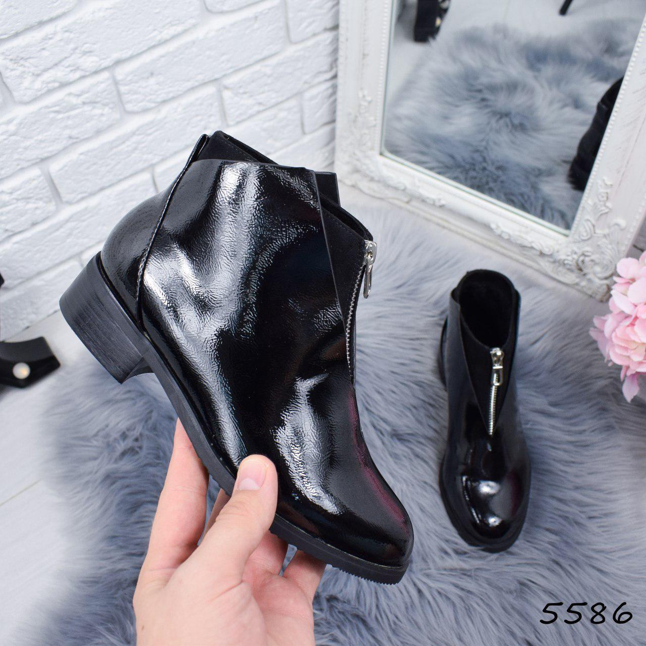 """Ботинки, ботильоны черные """"Castle"""" эко кожа, повседневная, демисезонная, осенняя, женская обувь"""