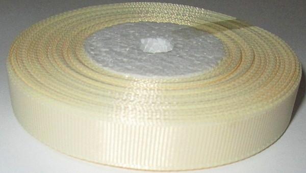 Лента репсовая 1,2 см, кремовая