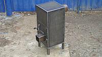 Буржуйка простая из стали 3 мм для отопления до 20 м2 и приготовления подогрева еды / ручная работа