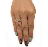 """Серебряное кольцо с золотыми накладками """"Корона Premium"""", фото 2"""