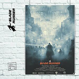 Постер Бегущий по лезвию, Blade Runner (в тумане на улице). Размер 60x42см (A2). Глянцевая бумага