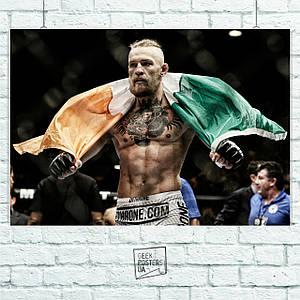 Постер Conor McGregor, Конор Макгрегор, боец UFC. Размер 60x42см (A2). Глянцевая бумага
