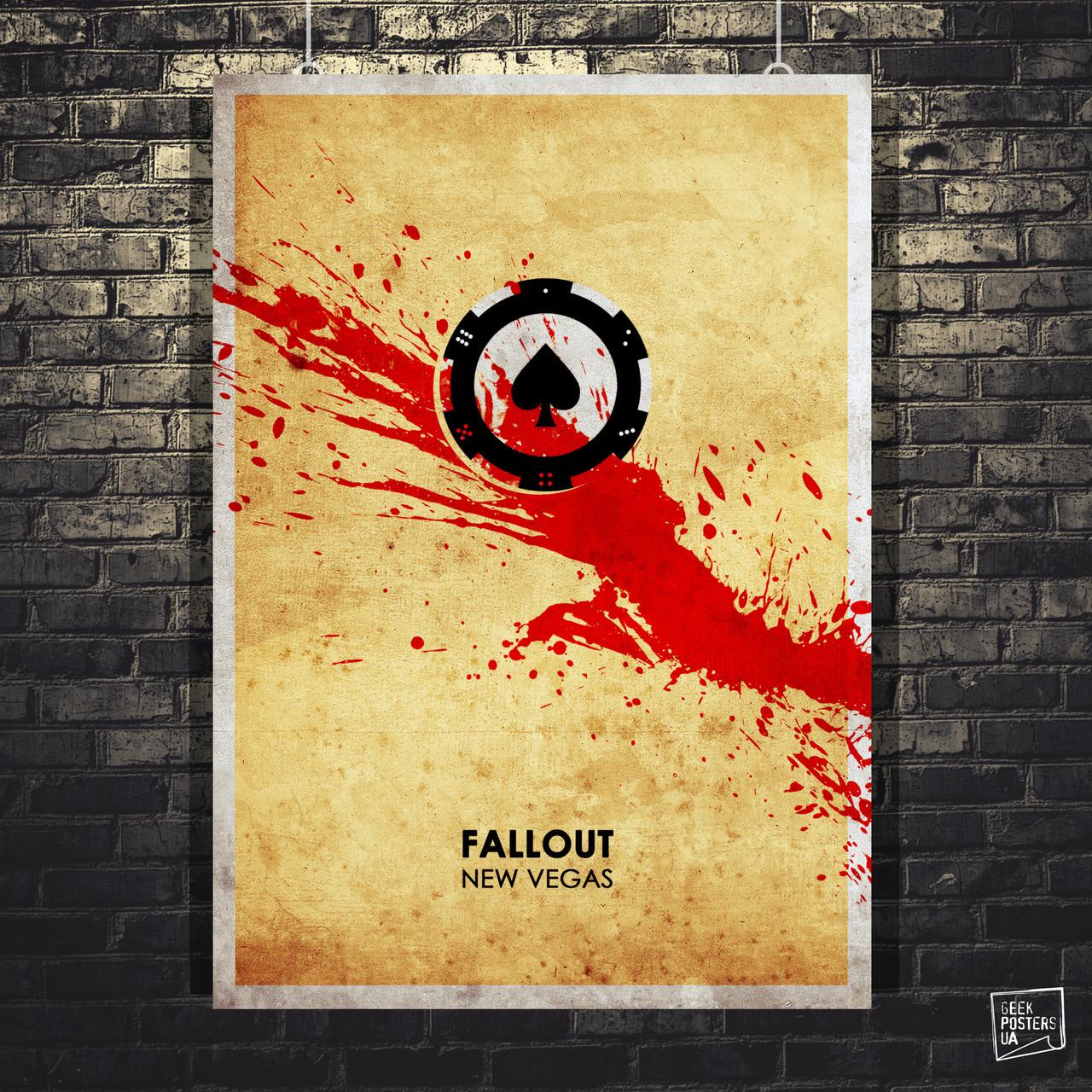 Постер Fallout New Vegas, Фаллаут. Размер 60x42см (A2). Глянцевая бумага