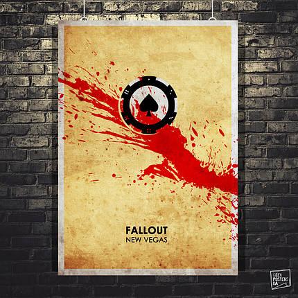 Постер Fallout New Vegas, Фаллаут. Размер 60x42см (A2). Глянцевая бумага, фото 2