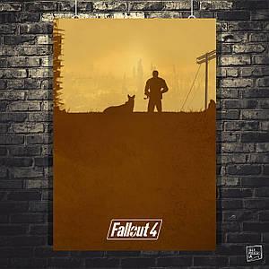 Постер Fallout 4, минималистичный постер (60x85см)