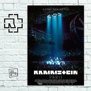 Постер Rammstein, Рамштайн. Размер 60x42см (A2). Глянцевая бумага