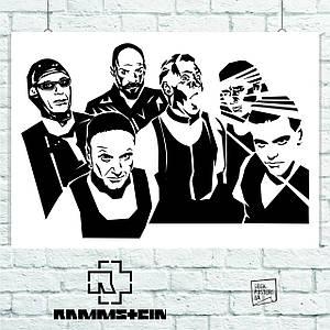 Постер Rammstein, минималистичный (60x85см)