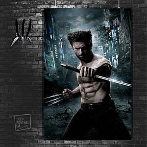 Постер Логан с мечом. Росомаха, Логан, The Wolverine. Размер 60x42см (A2). Глянцевая бумага