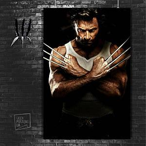 "Плакат ""Росомаха, Логан, The Wolverine, с выпущенными когтями"". Размер 60x42см (A2). Глянцевая бумага"