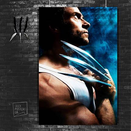 Постер Логан, фото сбоку, когти. Размер 60x42см (A2). Глянцевая бумага, фото 2