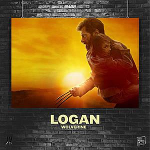 Постер Логан с Лорой на руках, Лора Кинни, Икс-23. Размер 60x42см (A2). Глянцевая бумага