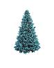 Высотная елка каркасная голубые ветки 7 метров. Комбинированная хвоя пвх + пластиковая ветка