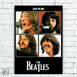 Постер Beatles, Let It Be, обложка, Битлз. Размер 60x42см (A2). Глянцевая бумага