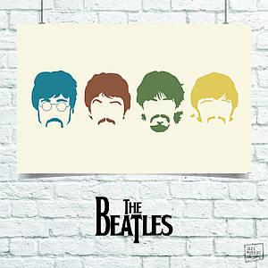 Постер Beatles, Битлз. Размер 60x42см (A2). Глянцевая бумага