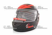 Шлем-интеграл BLD/F2 №-825 хищник черно-красный мат