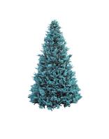 Высотная елка каркасная голубые ветки 8 метров. Комбинированная хвоя пвх + пластиковая ветка
