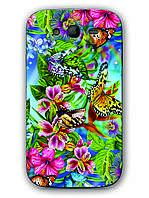 Чехол для Samsung Galaxy Grand Duos I9082(тропические бабочки)