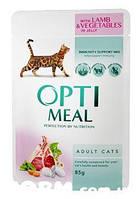 OPTIMEAL Беззерновий сухий корм для котів - індичка та овочі 0,65 кг
