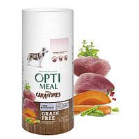 OPTIMEAL Беззерновий сухий корм для собак усіх порід - качка та овочі 1,5 кг