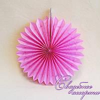 Бумажные гармошки бледно-розовые 25 см.