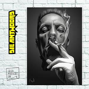 Постер Die Antwoord, Ninja, Ниндзя. Размер 60x43см (A2). Глянцевая бумага