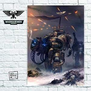 """Плакат """"Warhammer 40000, Вархаммер, Ваха, пехотинец"""". Размер 60x42см (A2). Глянцевая бумага"""