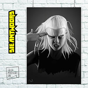 Постер Die Antwoord, Yolandi, Йоланди. Размер 60x43см (A2). Глянцевая бумага