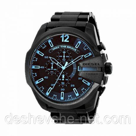 Мужские часы Diesel 10 bar с металлическим ремешком, черные
