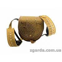 Кожаная сумка с традиционным гуцульским тиснением