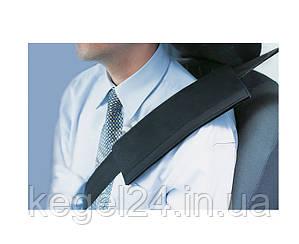 Подушка на ремінь безпеки, чорна, розмір універсальний, 1шт.