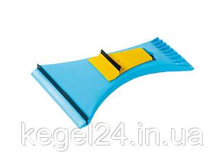 Двосторонній шкребок для скла з гумою SK02/D