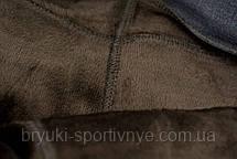 Брюки женские на меху в больших размерах 5XL - 7XL Лосины зимние с карманами - батал, фото 2