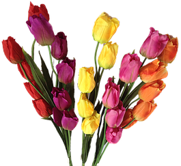 Искусственные цветы и ветки для ваз