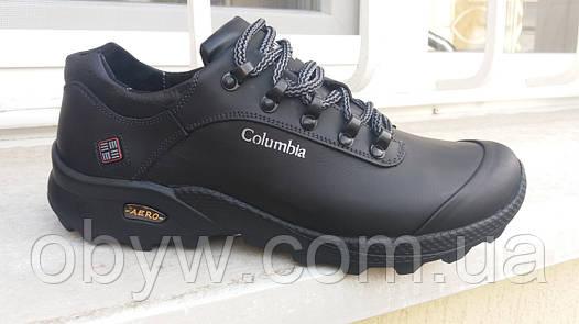 Мужские кожаные кроссовки calambia aero