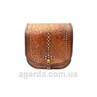 Кожаная сумка в коричневых оттенках