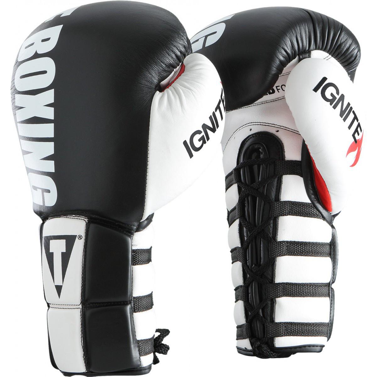 Боксерські рукавички TITLE Infused Foam Ignite Power Lace Training
