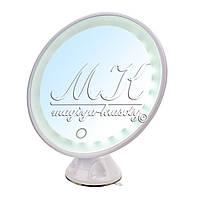 Зеркало с LED подсветкой на присоске, круглое