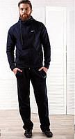 Мужской теплый спортивный костюм Nike темно-синий топ реплика