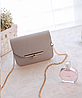 Деловая женская сумка сундук на цепочке, фото 4