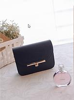 Деловая женская сумка сундук на цепочке, фото 2