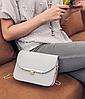 Ділова жіноча сумка скриня на ланцюжку, фото 2